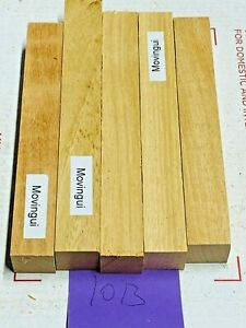 5 PIECES OF MOVINGUI~EXOTIC WOOD~PEN BLANKS~EXOTIC LUMBER 1013