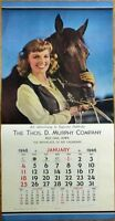 Pinup Cowgirl 1948 15 x 30 Poster/Advertising Calendar: Woman & Horse - 'Elyse'