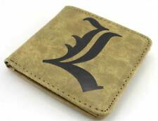 Death Note L Lawliet Bifold Leather Wallet Card Holder Purse Coin Bag Cosplay