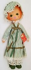 "1980 Lenci Torino 10"" Doll Green Dress Made In Italy Vintage w/ Tag, Cute !"