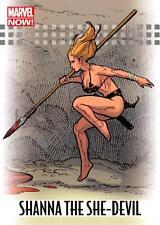 SHANNA THE SHE-DEVIL / 2013 Marvel Now! (Upper Deck 2014) BASE Trading Card #85