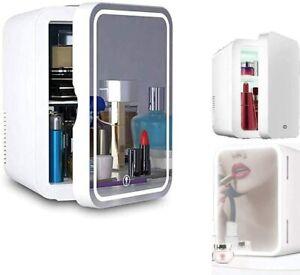 8L Beauty Portable Personal Mini Fridge, Makeup LED Mirror Cosmetic Refrigerator