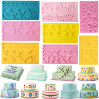 Silicone Lace Mold Mould Fondant Mat Chocolate Cake Decorating Sugarcraft Tools
