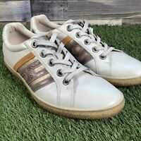 UK6 Ecco Stripe 46223 High Quality Natural Leather Casual Trainers - EU39