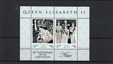 Niue 2013 MNH 60th Anniv Coronation Queen Elizabeth II 2v Sheet Diamond Jubilee