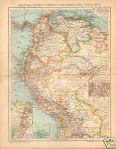 "F.A.BROCKHAUS 1905 "" COLUMBIA,PANAMA "" GERMAN"