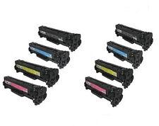 8 Pack HP CC530A - CC533A CM2320 CP2025 Toner Combo Set