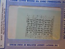 Microscale Decal N  #60-837 Northern Pacific Covered Hoppers PS3 Bay, ACF 2 & 3