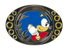*NEW* Sonic The Hedgehog: Sonic Gold Rings Spinner Belt Buckle by Bioworld