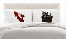 RUBY RED Slippers & Toto Dog (2) NEW pillowcase pair set the pillow cover case