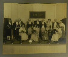 1917 People Colonial Costumes Picture Original Photo Camp Art Co Jamestown Ny