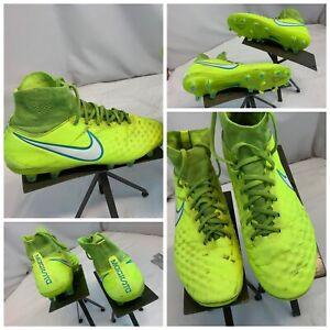 Nike Magista Orden II Flyknit Sz 8.5 Women Yellow Soccer Cleats EUC YGI G0S-36