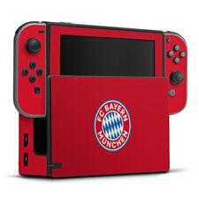 Nintendo Switch Folie Aufkleber Skin - FC Bayern München Logo auf Rot