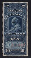 Canada VD #FSC7 (1897) 10c Victoria SUPREME COURT Law Stamp Revenue VF Used