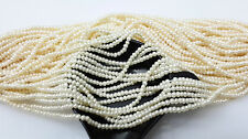 1-1.2mm 300pc 5cts Fresh Water Pearl Round Beads Milky White Color Drilled Lot