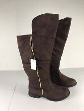 twisted boots womens 11 W Tall Brown