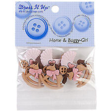 Jesse James Buttons- Dress It up - Horse and Buggy Girl 5824 Baby Carriage