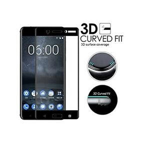5D Curved Edge Gorilla Tempered Glass Screen Protector Guard For Nokia 4 5 6 7 8