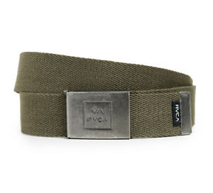 NWT Men's  RVCA Falcon Web Olive Adjustable Belt OSFM