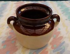 "VINTAGE MCCOY POTTERY CROCK PLANTER STONEWARE 6"" KITCHEN GARDEN  ANTIQUE"