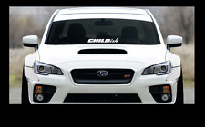 "CHILDISH sticker 23"" Windshield JDM acura honda lowered car subaru decal VW"