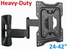 Full Motion LCD LED Flat Screen TV Wall Mount Articulating Bracket 24 32 40 42""