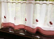 Rideaux et cantonnières panneaux rouge en polyester pour la maison