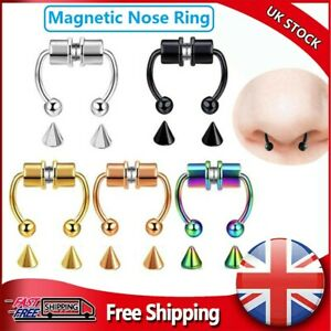 Non-Piercing Magnetic Nose Ring Fake Septum Segment Helix Tragus Faux Clicker