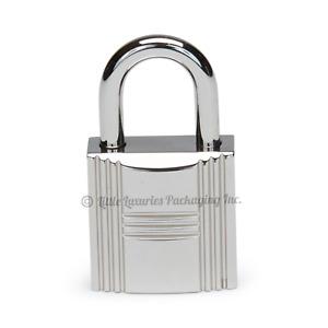 BRAND NEW MINT 2021 Authentic Hermes Palladium Lock & 2 Keys Set + Plastic On