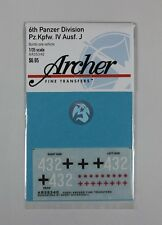 Archer 1/35 6th Panzer Division Panzer IV Ausf.J (Late) Markings AR35340