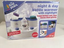 Night & Day Bottle Warmer And Cooler With Nightlight White And Blue