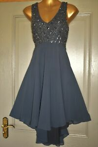 MONSOON ~MIA~ NAVY BLUE EVENING PARTY WEDDING FORMAL OCCASION DRESS SIZE 12 BNWT
