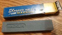Vintage Macklin Knife Tool Sharpening Stone Made in Jackson Michigan USA W/ Box