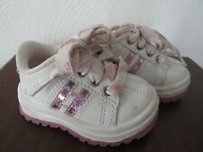 Kid Connection White Pink Baby Girl Lace-Up Shoes Sneakers 3 NWOB