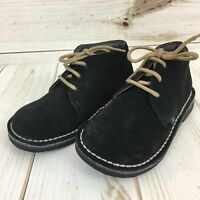 NEW Aster Toddler Boys Navy Blue Suede Lace Desert Boots. Size 26(9/9.5).