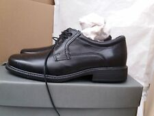 Men's Magnesium Black Leather Lace Up Hush Puppies Wide Fit Shoes UK 7 RRP £70