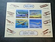 SAMOA IMPERF AVIATION AIRPLANES SHEET VF MNH SAMOA W37.19 START 0.99$