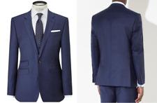 John Lewis Blue Melange Super 100s Wool Tailored Suit Jacket Size 46R RRP £140