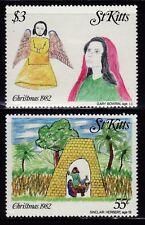 SELLOS NAVIDAD ST. KITTS 1982 521/24 2v.