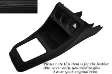 BLACK STITCH CENTRE CONSOLE LEATHER SKIN COVER FITS VW GOLF MK1 JETTA CADDY MK1