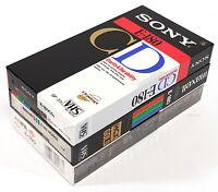 VHS Video Cassette PAL 3x New Maxell Sony Agfa E-180 382DA