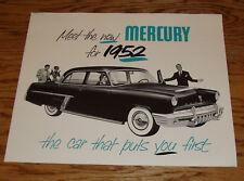 1952 Mercury Full Line Foldout Sales Brochure 52 Monterey Custom Special