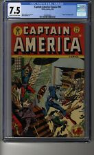 Captain America Comics # 55 - CGC 7.5 Cream/Off-White Pages - First Sensitivo