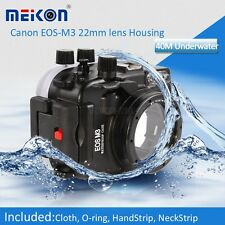 40M Waterproof Underwater Camera Housing Hard Case for Canon EOS M3 22mm Lens
