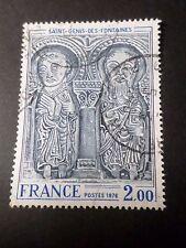 FRANCE 1976, timbre 1868, ART LINTEAU EGLISE ST GENIS FONTAINE oblitéré PAINTING