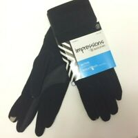 Impressions By Isotoner Active Smartouch Technology Gloves Women's Black Fleece