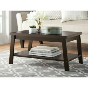 Finished Modern Coffee Table, Mainstays Logan Coffee Table, Espresso