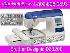 "BROTHER Embroidery Machine Designio DZ820E (like PE770) 5""x7""+ 2 Extra Hoops + +"