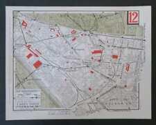 Carte taride 12ème XII ARRONDISSEMENT PARIS Nation Daumesnil Picpus Bercy