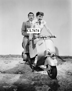 Gregory Peck and Audrey Hepburn Practice a Moped Scene for Movie 'Roman Holiday'